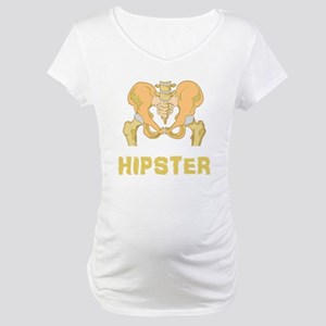 Hipster Hip Bone Maternity T-Shirt