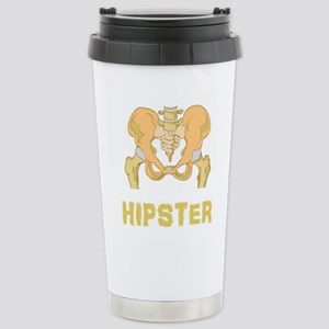 Hipster Hip Bone Stainless Steel Travel Mug