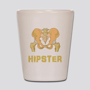 Hipster Hip Bone Shot Glass