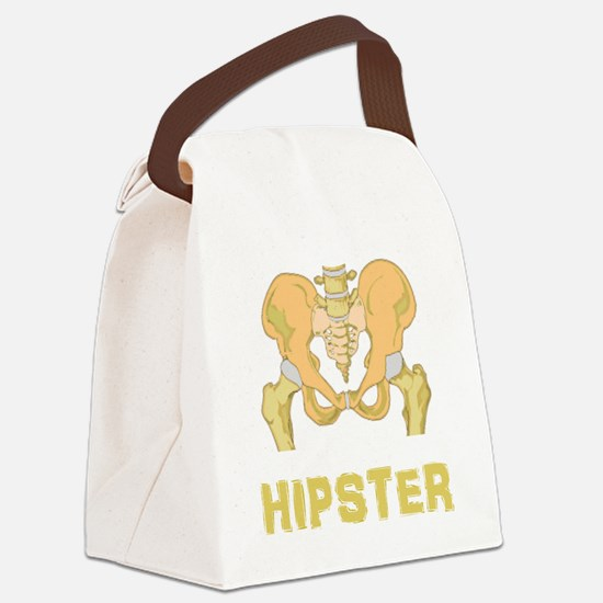 Hipster Hip Bone Canvas Lunch Bag