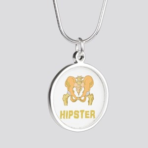 Hipster Hip Bone Silver Round Necklace