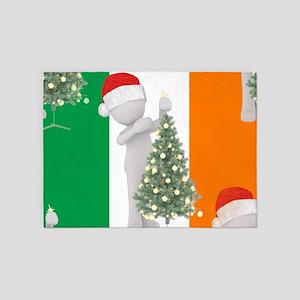 irish christmas 5'x7'Area Rug