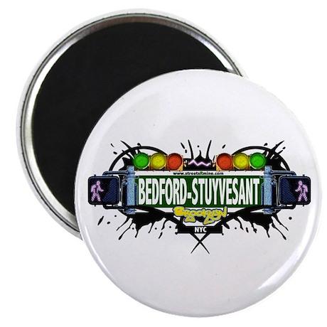 """Bedford-Stuyvesant (White) 2.25"""" Magnet (10 pack)"""