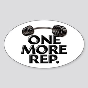 ONE MORE REP! Oval Sticker