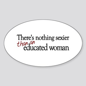Educated Woman Oval Sticker