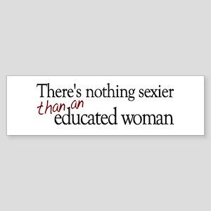 Educated Woman Bumper Sticker