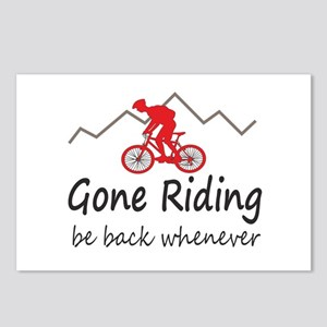 Gone riding be back whenever Postcards (Package of