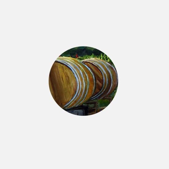 Wine Barrels Mini Button