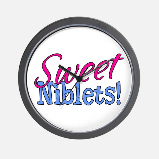 Sweet Niblets Quote Wall Clock