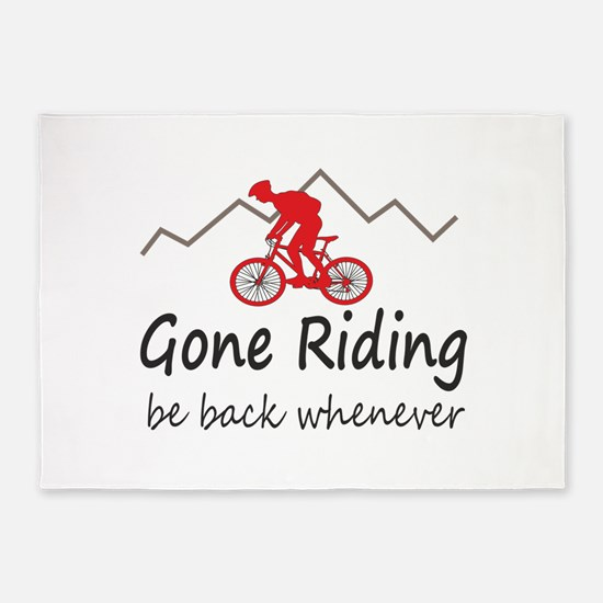Gone riding be back whenever 5'x7'Area Rug