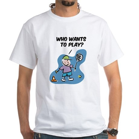 Funny tennis cartoon T-Shirt Unique gift!