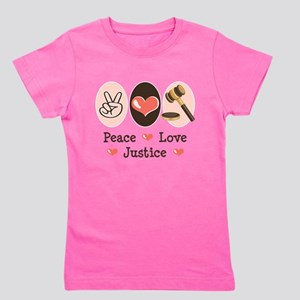 Peace Love Justice Judge T-Shirt