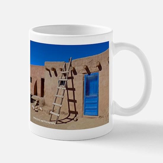 Taos Blue Door And Ladder Mug Mugs