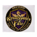 Brevard Renaissance Fair Throw Blanket