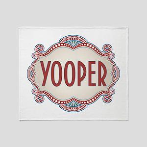 Retro Vintage Yooper Throw Blanket