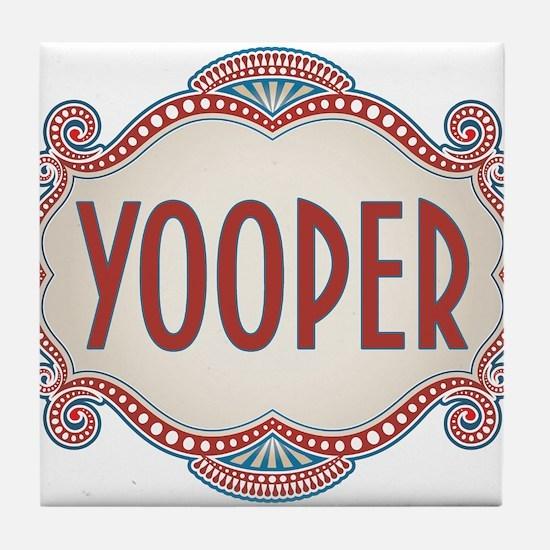 Retro Vintage Yooper Tile Coaster