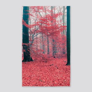 Red Forest Area Rug