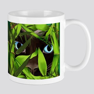 Siamese Cat Eyes in Bamboo Mugs
