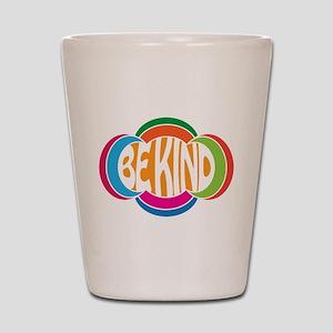 Be Good Be Kind Retro Design Shot Glass