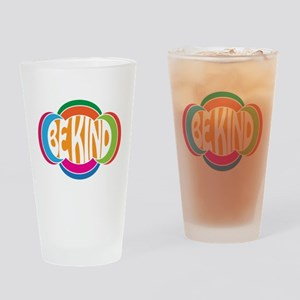 Be Good Be Kind Retro Design Drinking Glass