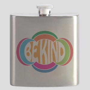 Be Good Be Kind Retro Design Flask