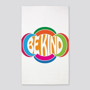 Be Good Be Kind Retro Design Area Rug