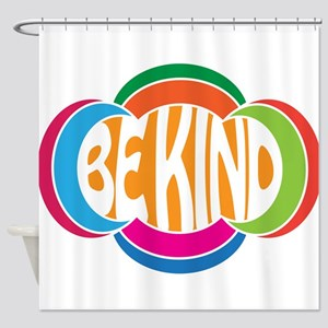 Be Good Be Kind Retro Design Shower Curtain