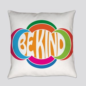 Be Good Be Kind Retro Design Everyday Pillow
