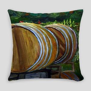 Wine Barrels Everyday Pillow