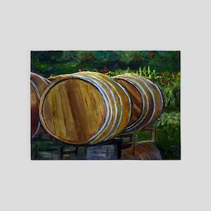 Wine Barrels 5'x7'Area Rug