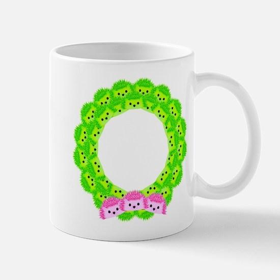 Deck with Hedgehogs Mug