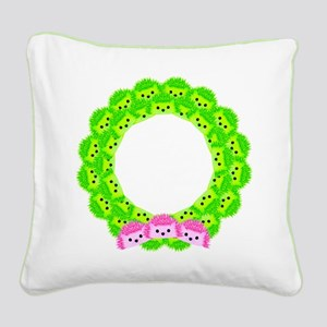 Deck with Hedgehogs Square Canvas Pillow