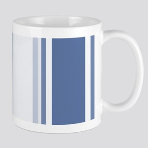 Classic Blue Varied Stripes Geometric Pattern Mugs