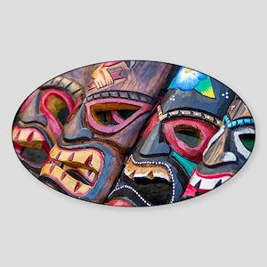Colorful Hawaiian Tikis Sticker