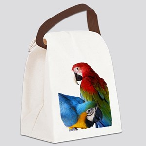 2 Macaws Canvas Lunch Bag
