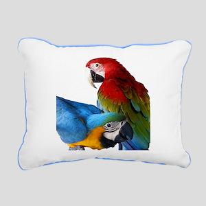 2 Macaws Rectangular Canvas Pillow