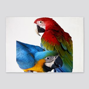2 Macaws 5'x7'Area Rug