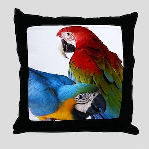 2 Macaws Throw Pillow