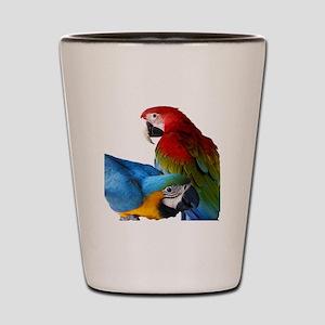 2 Macaws Shot Glass