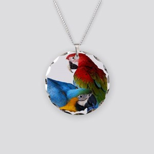 2 Macaws Necklace Circle Charm