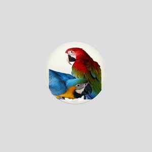 2 Macaws Mini Button