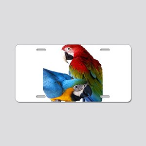 2 Macaws Aluminum License Plate