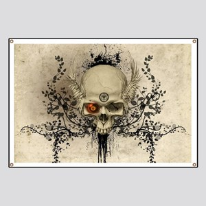 Awesome skull with wings Banner