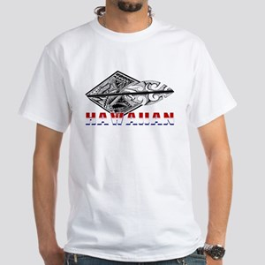 Hawaiian Tribal White T-Shirt