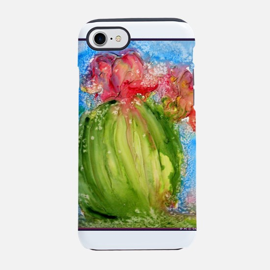 Cactus, colorful, southwest art iPhone 8/7 Tough C