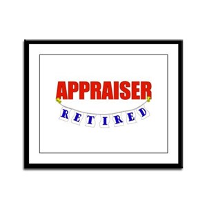 Retired Appraiser Framed Panel Print