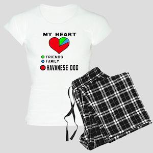 My Heart, Friends, Family H Women's Light Pajamas