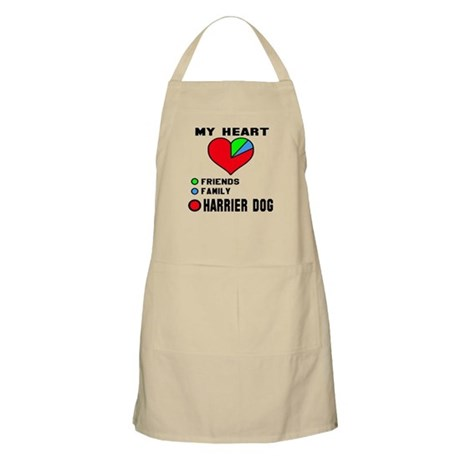 My Heart, Friends, Family Harrier Dog Light Apron