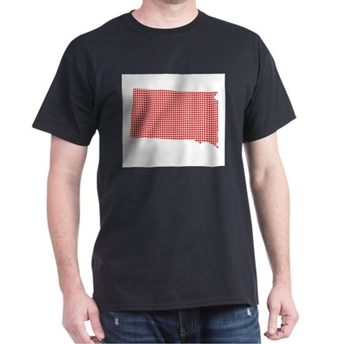 Red Dot Map of South Dakota T-Shirt