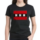 Amsterdam flag Women's Dark T-Shirt